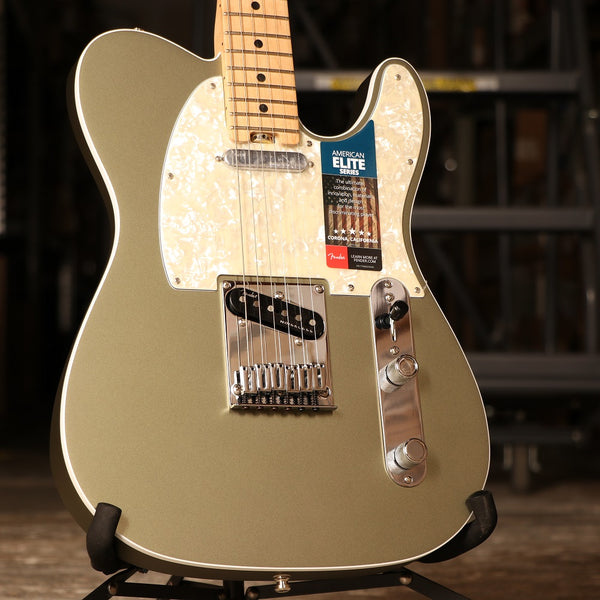 Fender American Elite Telecaster Guitar in Satin Jade Pearl Metallic (SN# 4446)