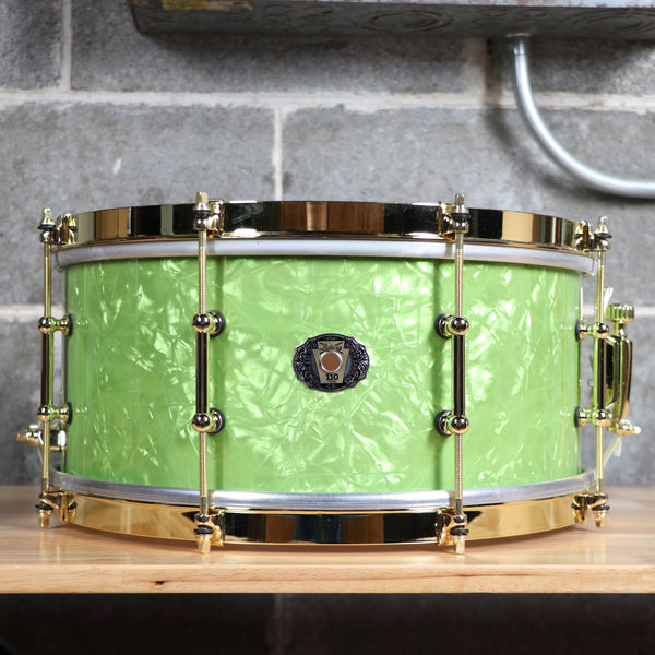 Ludwig Limited 110th Anniversary 6.5x14 Maple Snare Drum Vintage Emerald Pearl