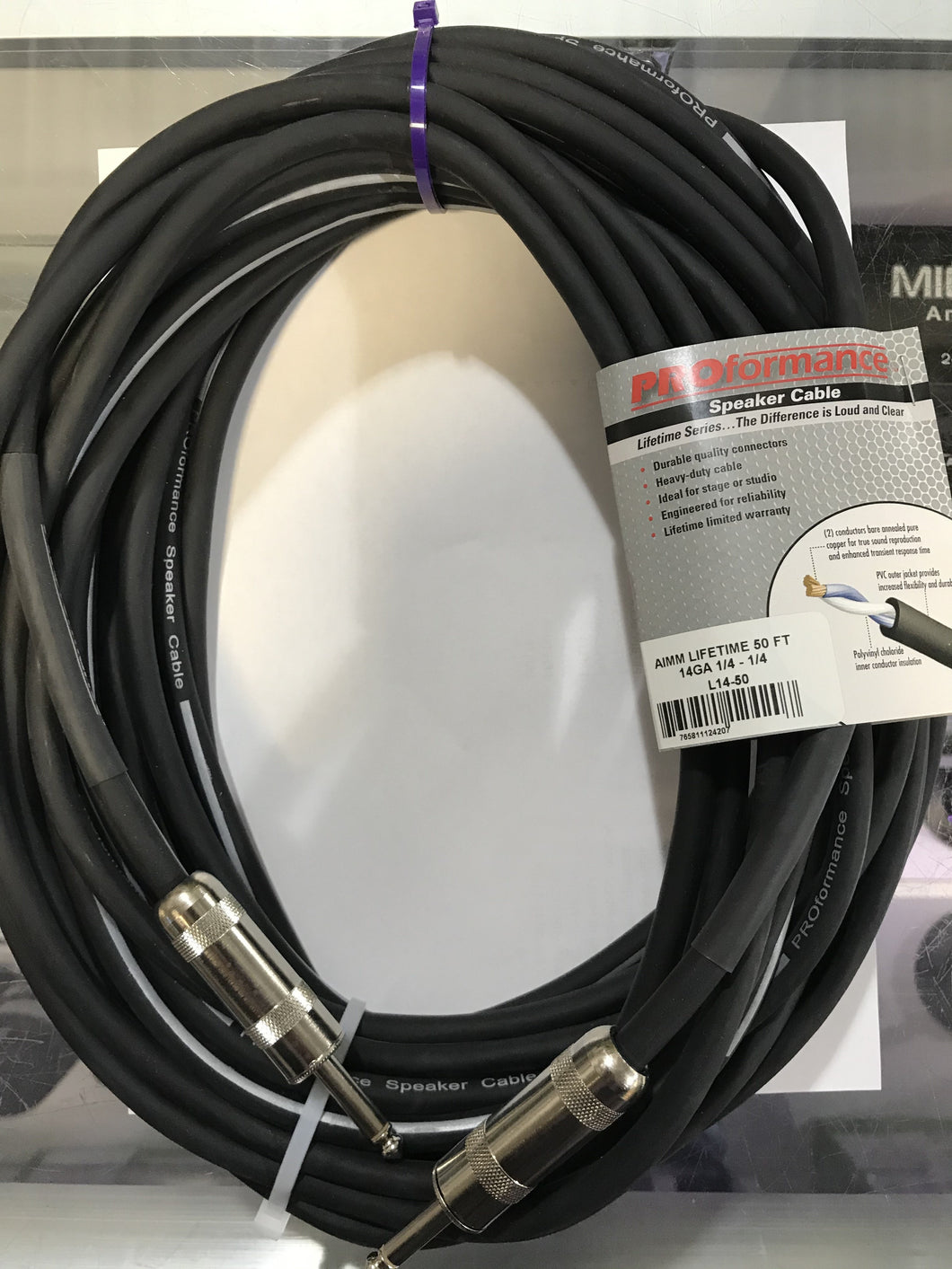 Spkr cable 050' 14g