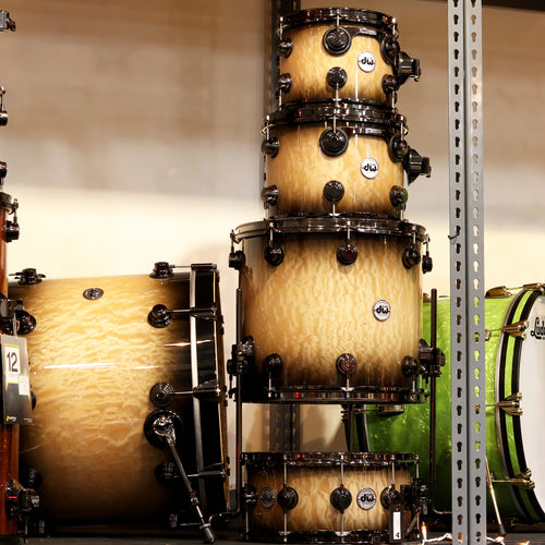 DW Collectors Exotic Quilted Maple Shell Kit 5-Piece - Candy Black Burst