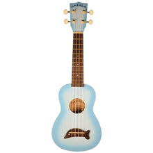 Makala MK-SD/LBLBURST Dolphin Soprano Ukulele in Light Blue Burst