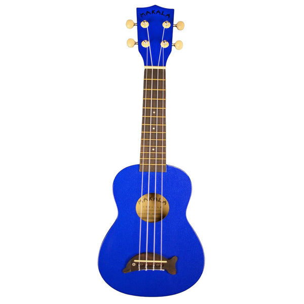 Makala MK-SD/MBL Dolphin Soprano Ukulele in Metallic Blue with Bag