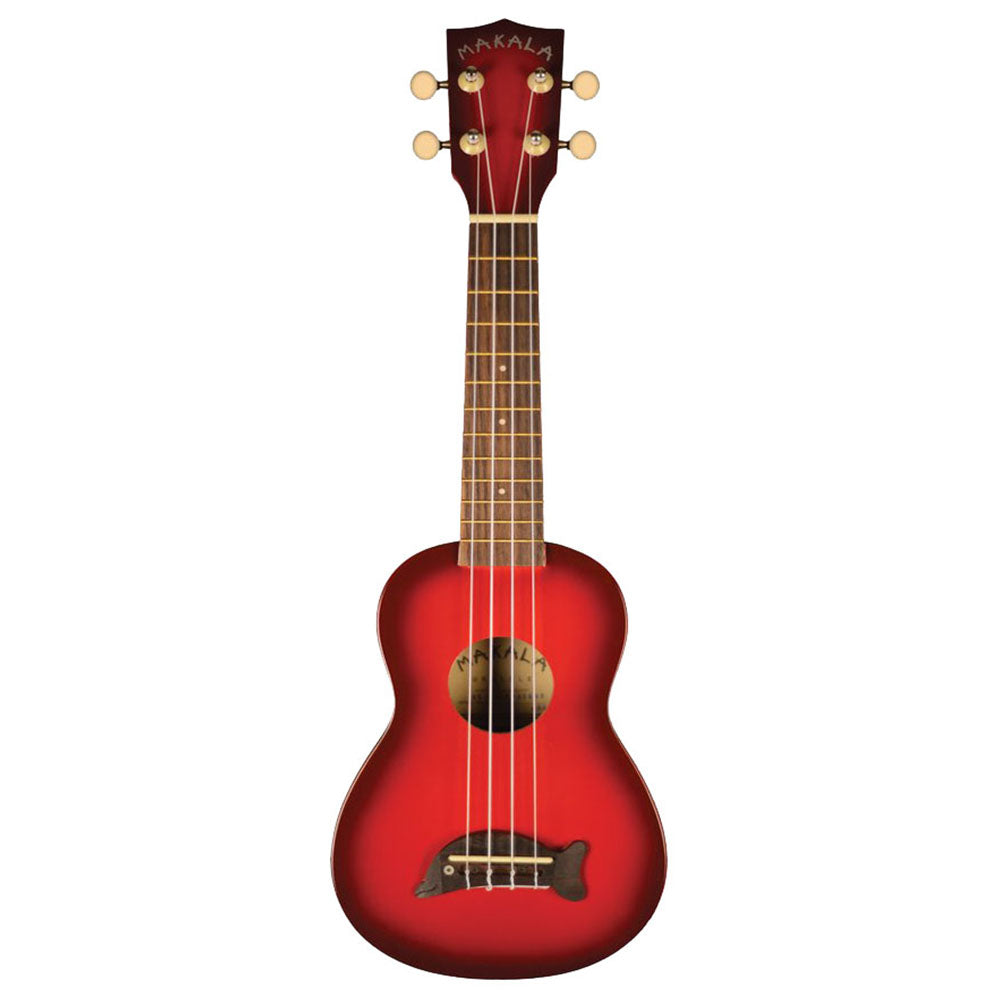 Makala MK-SD/RDBURST Dolphin Soprano Ukulele in Red Burst with Bag