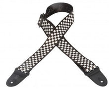 "2"" Guitar Strap in Black/White Checkered Pattern"