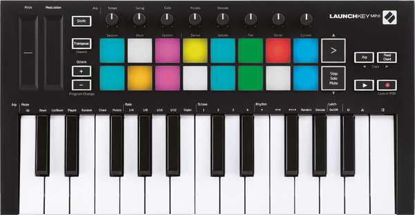 Novation Launchkey Mini Mk3 USB Keyboard DAW Controller