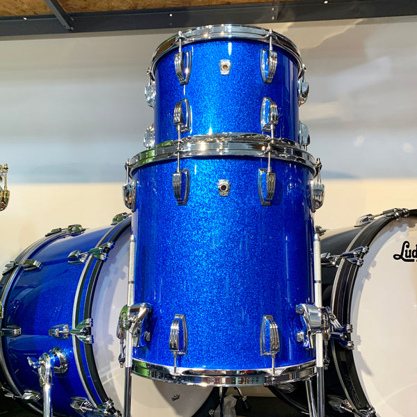 Ludwig Classic Oak 3 Piece FAB Shell Kit Blue Sparkle