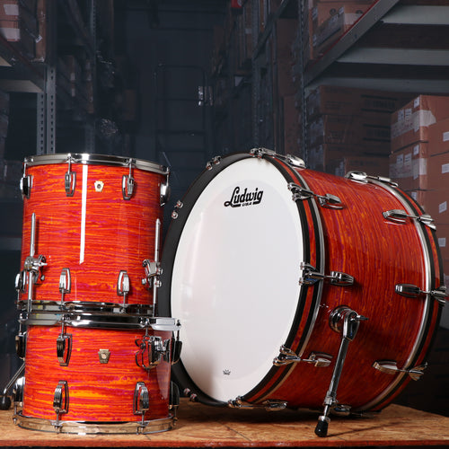 Ludwig L84433AX51WC Classic Maple Pro Beat 3-Piece Shell Kit in Mod Orange