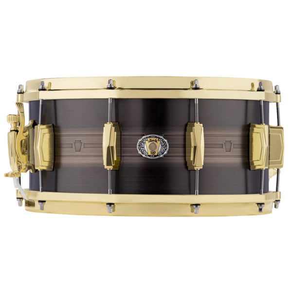 Ludwig LBR0714CX 110th Anniversary Heirloom Black Brass Snare 7x14