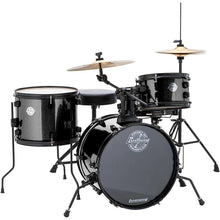 "Ludwig Questlove ""The Pocket"" Complete Drum Set - Black Sparkle with Hardware and Cymbals"
