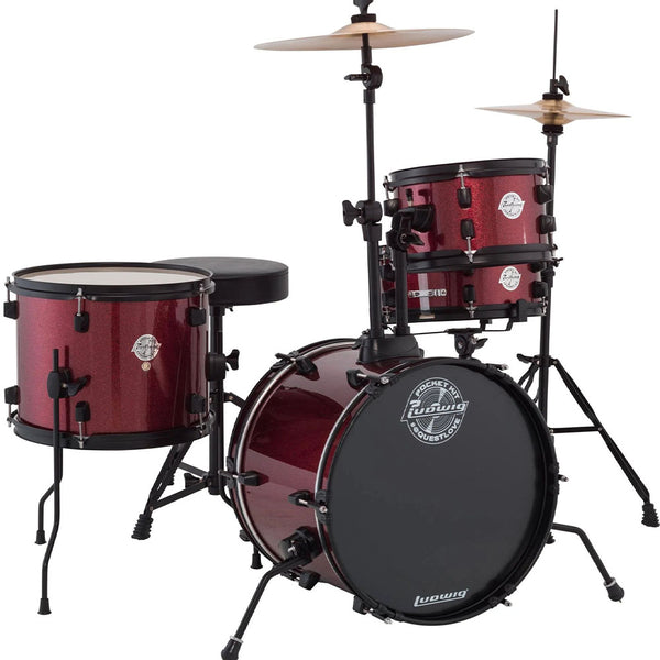 Ludwig LC178X025 Questlove Pocket Drum Kit in Red Sparkle
