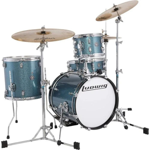Ludwig LC179XX023 Breakbeats Shell Pack by Questlove - Azure Sparkle