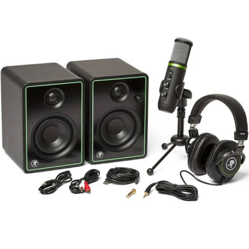 Mackie Creator Bundle with EM-USB Mic CR3-X Monitors and Headphones