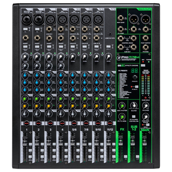 Mackie ProFX12v3 12-Channel Professional Effects Mixer with USB - Ken Stanton Music
