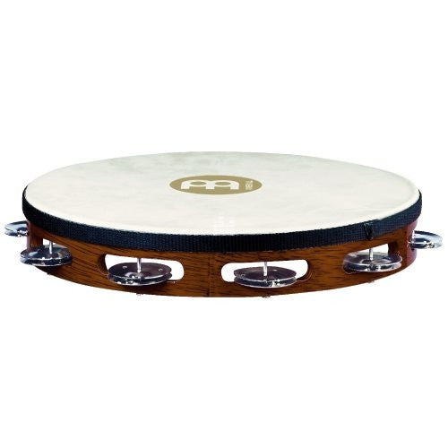Meinl Traditional Goat Skin Single Row Wood Tambourine