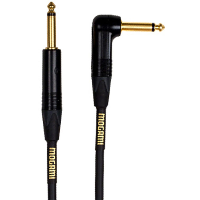 Mogami Gold Instrument R Straight to Right-Angle Guitar Bass Keyboard Cable 18/'