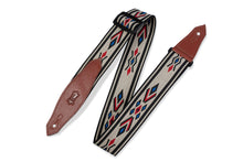 "Levy's MSSN80-MLT  2"" Wide Tri-gold Navajo Art Guitar Strap"