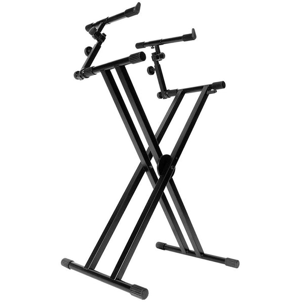 On Stage KS7292 Double-X Ergo Lok Keyboard Stand with 2nd Tier