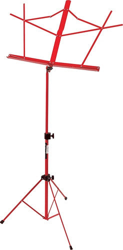 On-Stage SM7122RB Compact Sheet Music Stand with Bag - Red - Ken Stanton Music