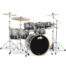 PDP PDCM2217SB Concept Maple 7-Piece Shell Kit in Silver to Black Fade