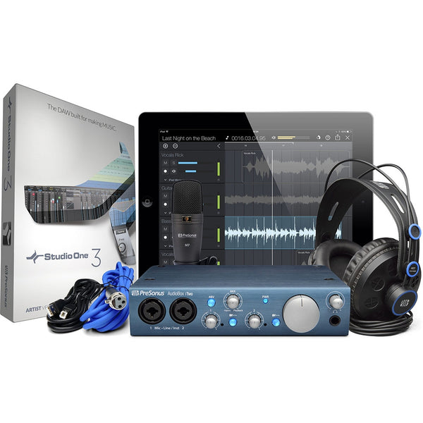 PreSonus AudioBox iTwo Studio USB Recording Bundle