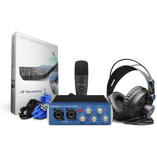 PreSonus AudioBox 96 Studio Complete Hardware Software Recording Kit