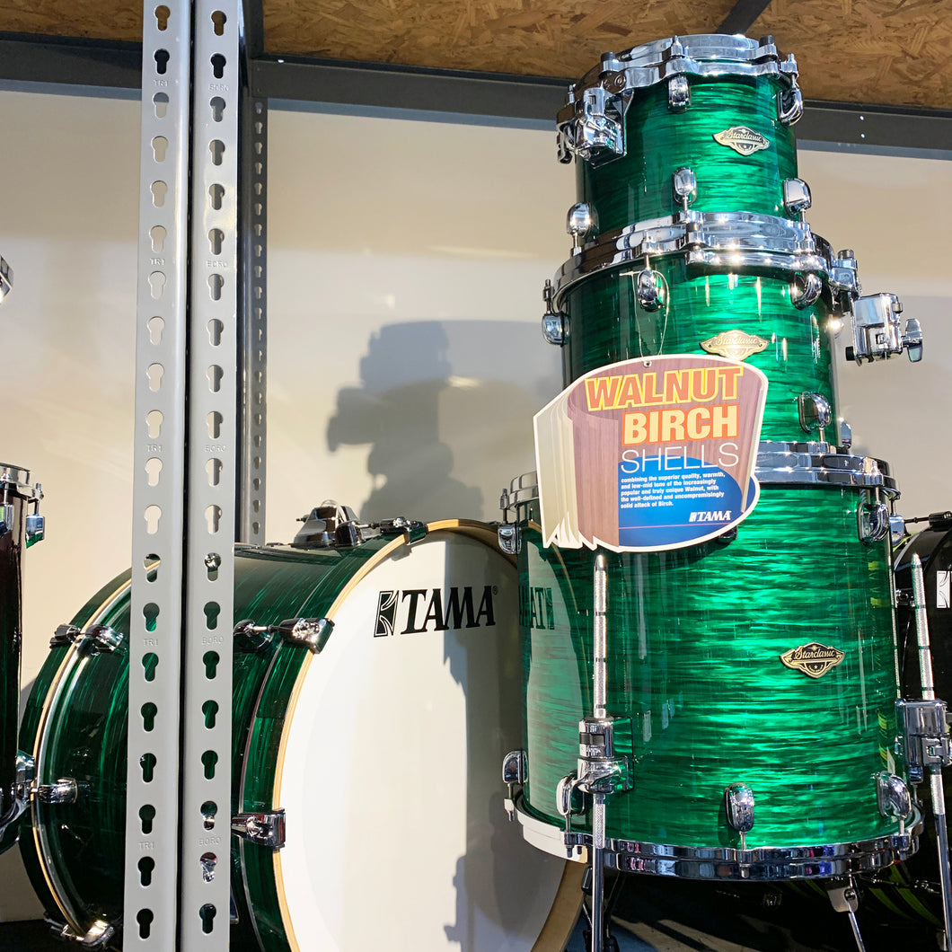 Tama Starclassic WBR42SJDL 4-Piece Walnut Birch Shell Kit in Jade Silk