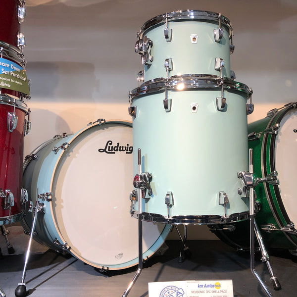 Ludwig L26223TX3R NeuSonic 3-Piece Shell Kit in Skyline Blue
