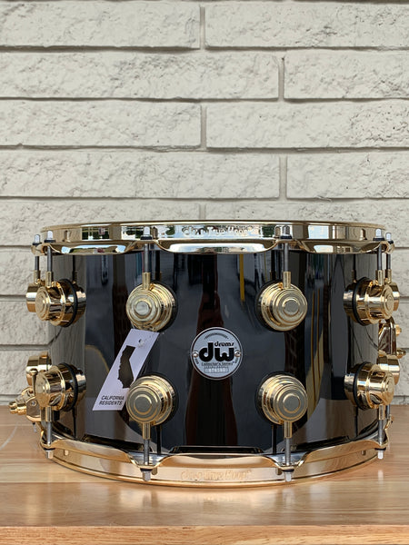 DW Collector's Series 8x14 Black Nickel Over Brass with Gold Hardware