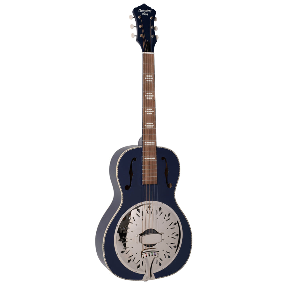 Recording King RPH-R2-MBL Dirty 30s Single 0 Resonator in Wabash Matte Blue