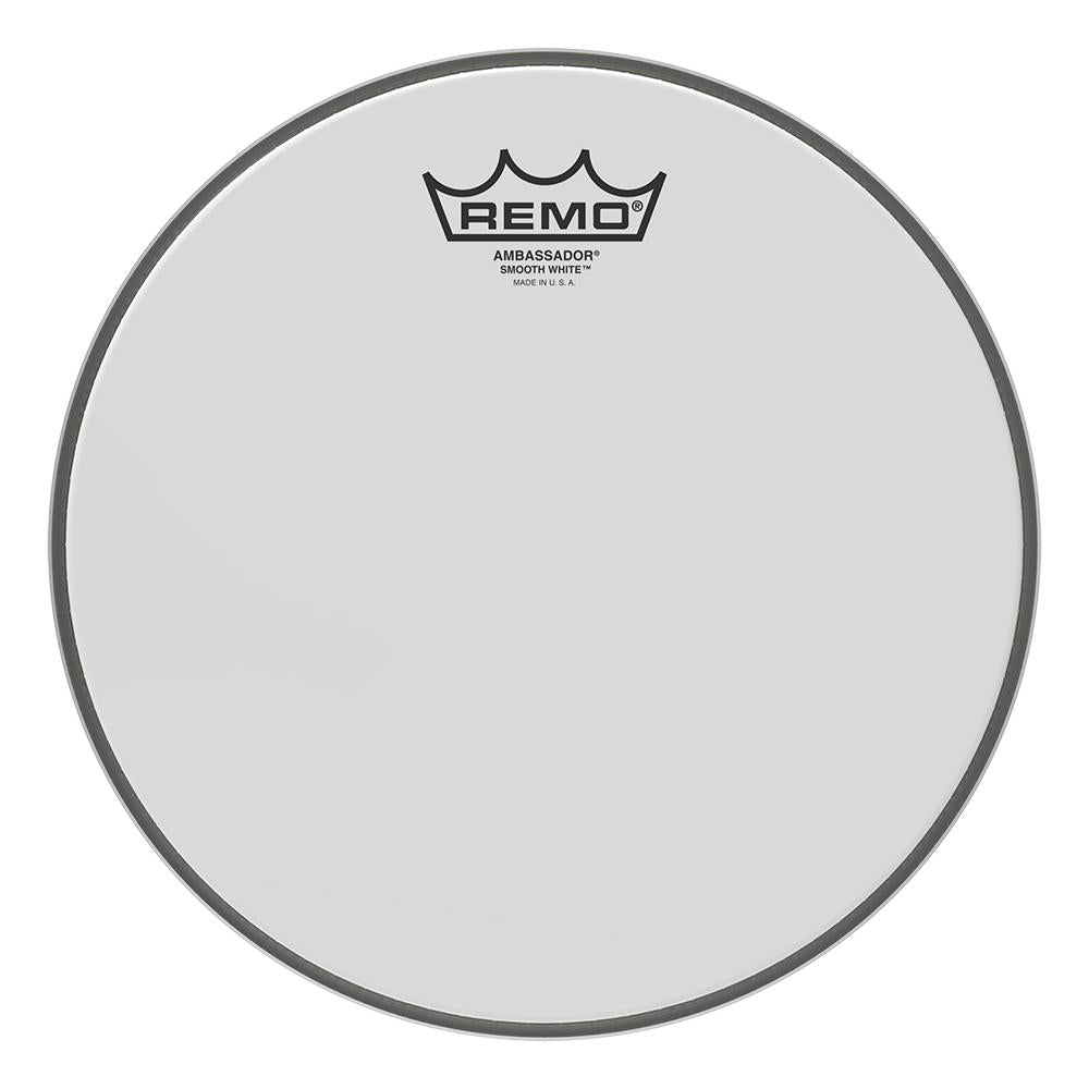 REMO BA021000 Ambassador Smooth White Drumhead, 10