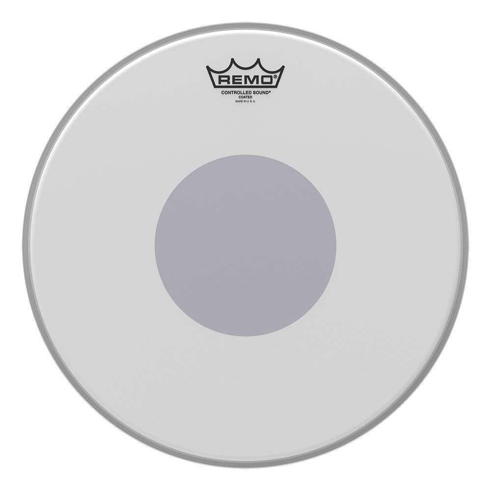 REMO CS011410 Controlled Sound Coated Black Dot Drumhead - Bottom Black Dot, 14