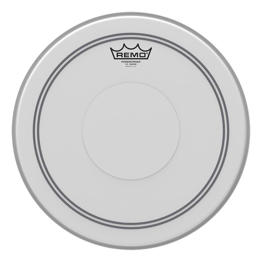 REMO P30114C2 Powerstroke P3 Coated Drumhead - Top Clear Dot, 14