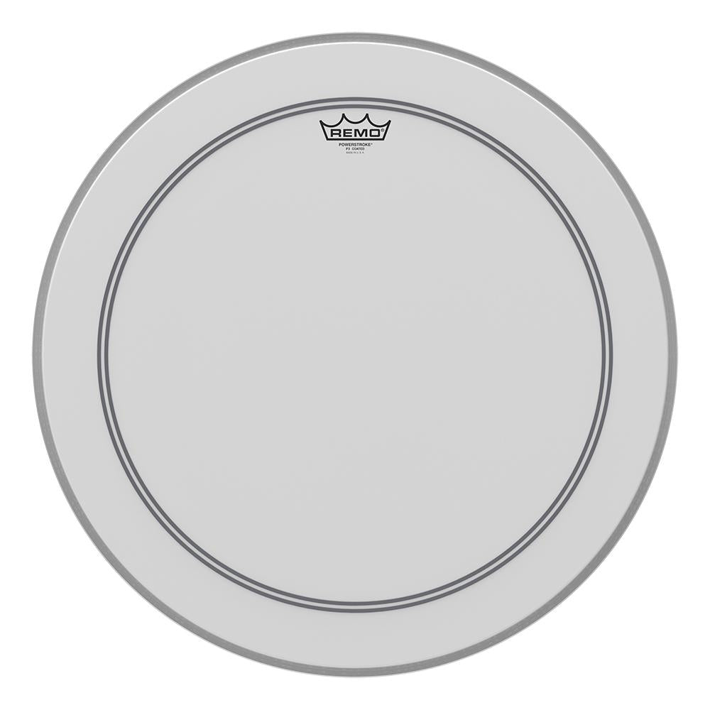 REMO P31122C2 Powerstroke P3 Coated Bass Drumhead, 22