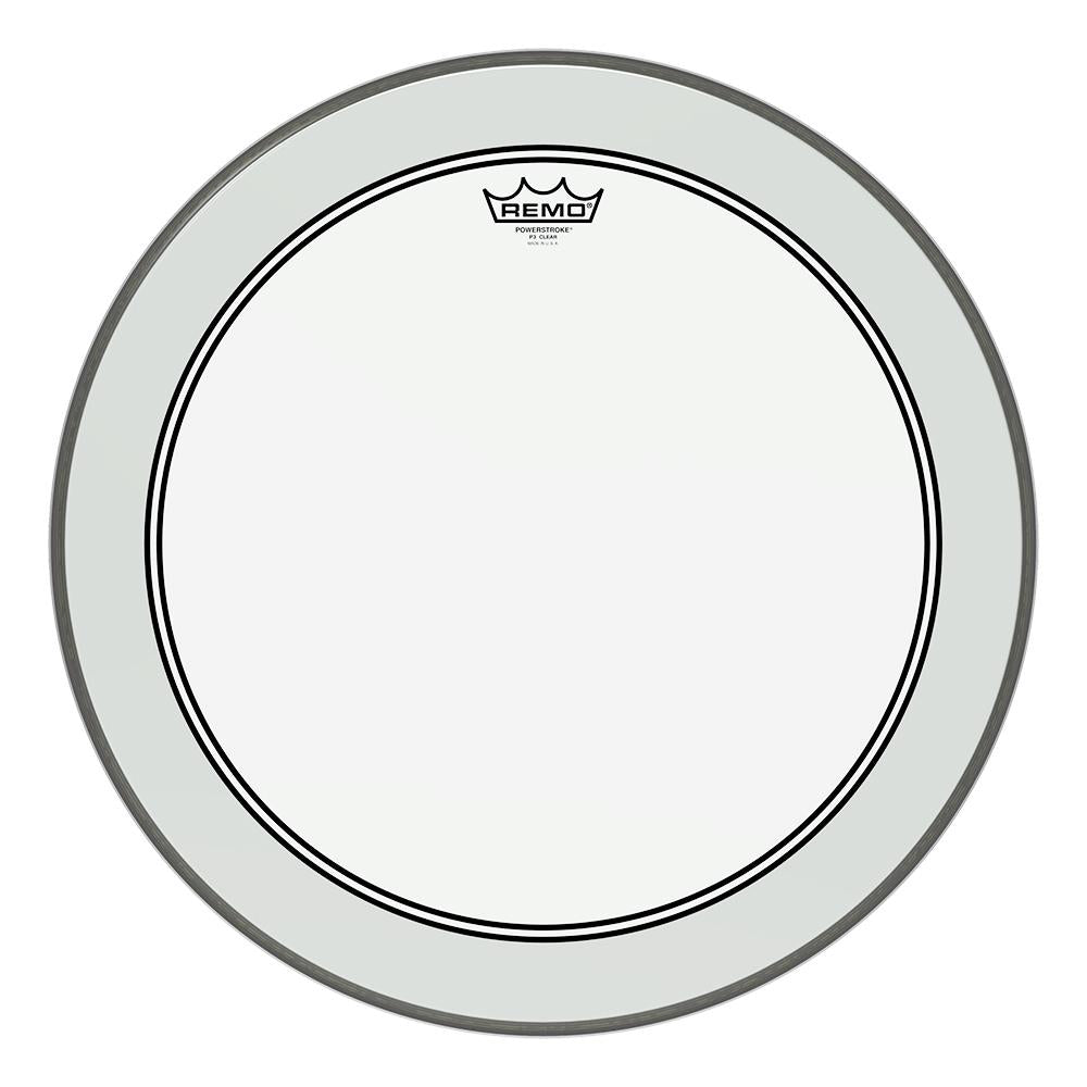 REMO P31322C2 Powerstroke P3 Clear Bass Drumhead, 22