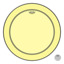 REMO P31322CTYE Powerstroke P3 Colortone Yellow Bass Drumhead, 22""