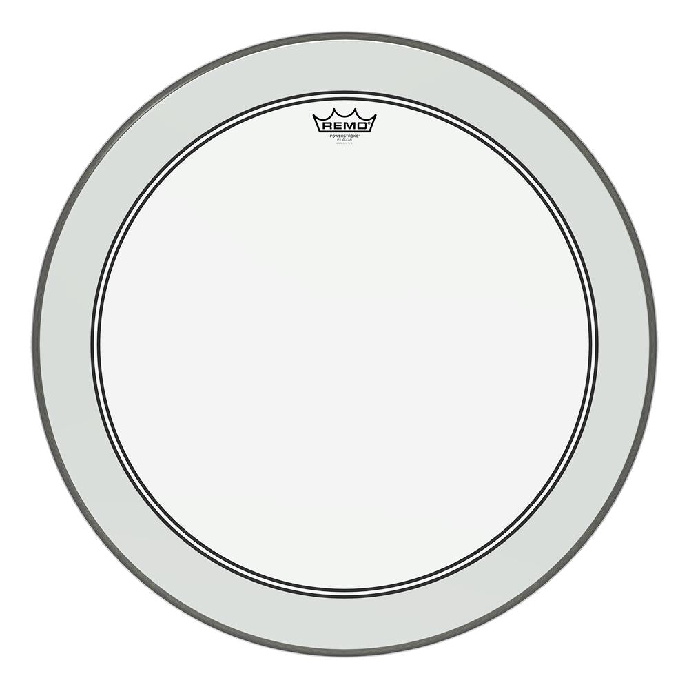 REMO P31324C2 Powerstroke P3 Clear Bass Drumhead, 24