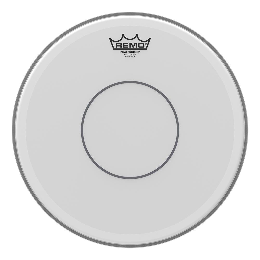 REMO P70114C2 Powerstroke 77 Coated Clear Dot Snare Drumhead - Top Clear Dot, 14