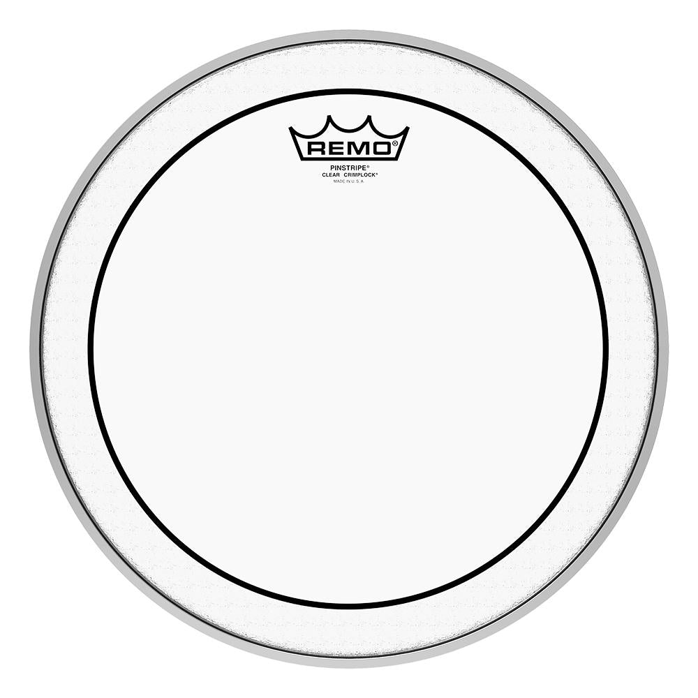 REMO PS0313MP Pinstripe Clear Crimplock Tenor Drumhead, 13