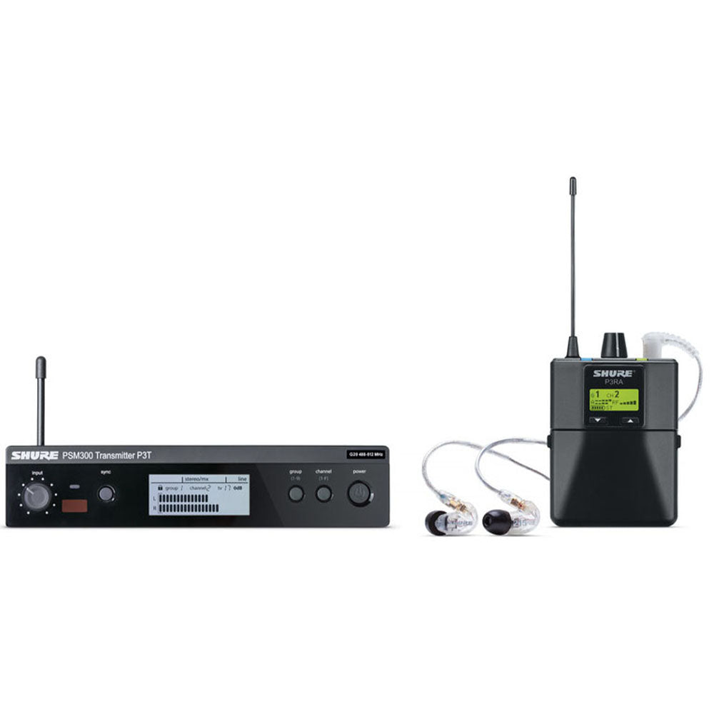Shure P3TRA215CL-G20 In-Ear Monitor System with SE215CL Earphones