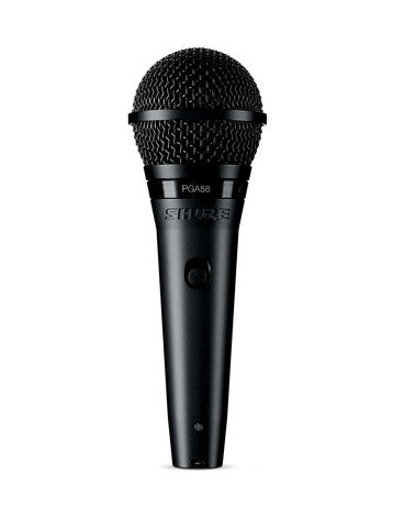 Shure PGA58 Dynamic Vocal Mic with XLR Cable - Ken Stanton Music