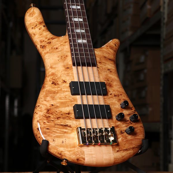 Spector Euro 5LX Electric Bass Guitar in Poplar Burl Gloss