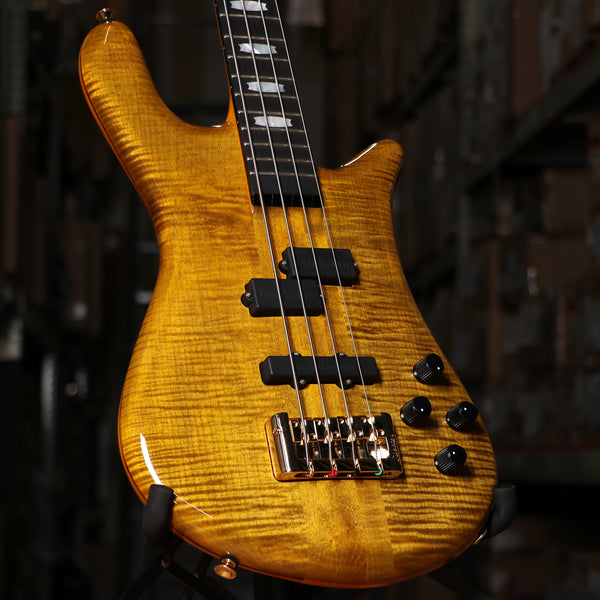 Spector Euro 4LT Electric Bass Guitar in Tiger Eye Gloss