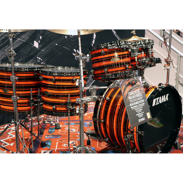 Tama Starclassic Walnut/Birch 5-Piece Limited Shell Pack in Neon Orange Oyster
