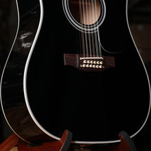 Takamine EF381SC 12-String Dreadnought Acoustic Electric Guitar in Black