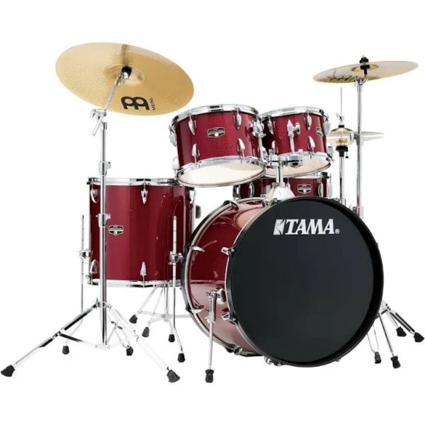 Tama Imperialstar 5-Piece Drum Set in Candy Apple Mist with Cymbals and HW