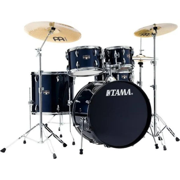 Tama Imperialstar 5-Piece Complete Drum Kit in Dark Blue with Cymbals and Hardware