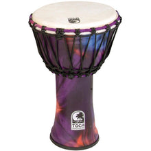 "9"" Freestyle Rope-Tuned Djembe in Woodstock Purple"