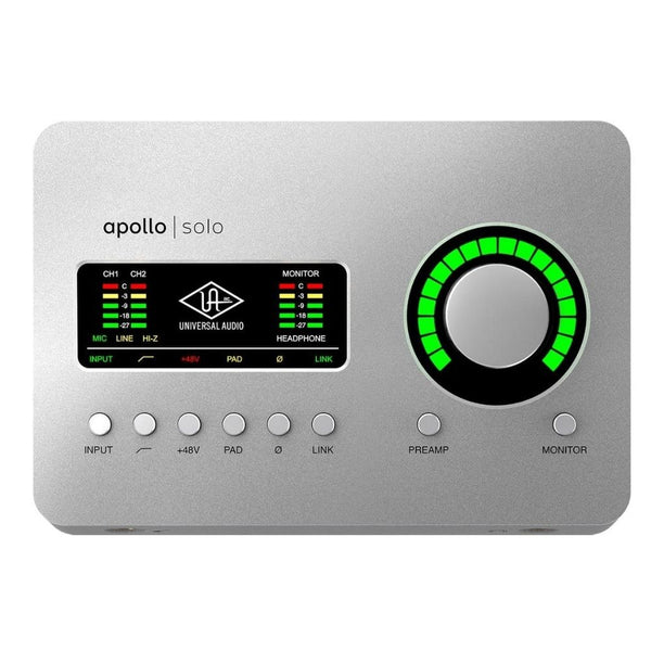 Universal Audio Apollo Solo TB3 Thunderbolt 3 Audio Interface