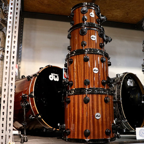 DW Collector's Series Lacquer Custom Maple Mahogany 5-Piece Shell Kit BN