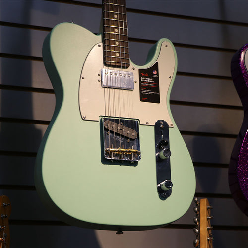 Fender American Performer Telecaster HUM in Satin Surf Green